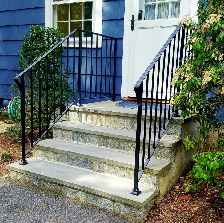Simple Exterior Wrought Iron Stair Railings Image 629