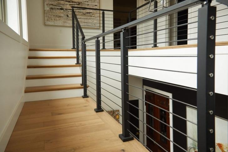 Simple Metal Stair Handrail Photo 220