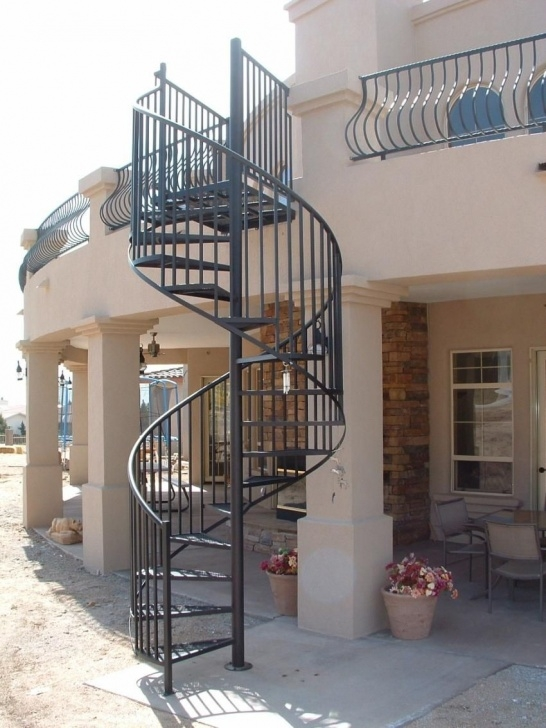 Simple Outdoor Metal Spiral Staircase Image 906