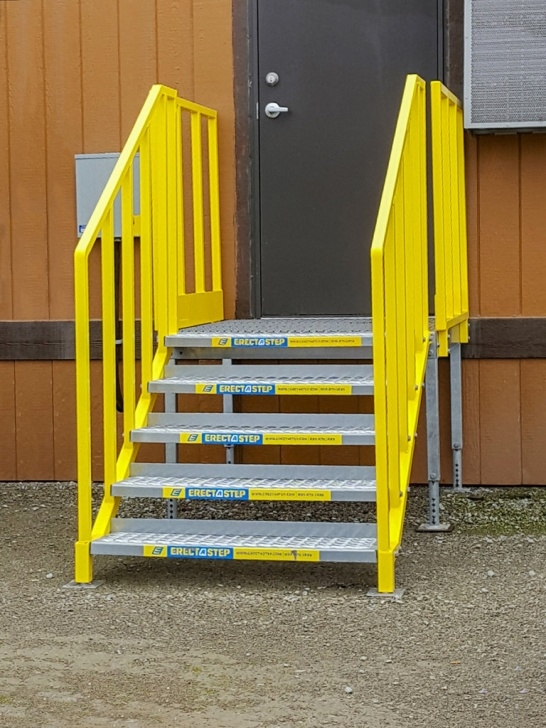 Simple Portable Stairs With Handrail Picture 210