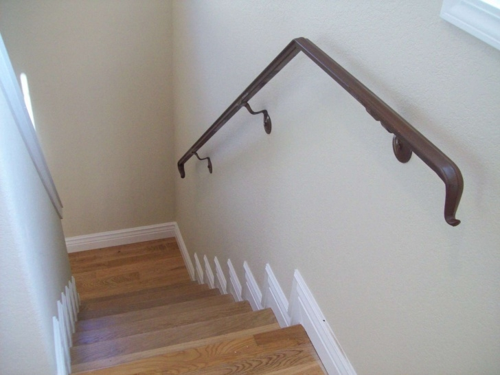 Simple Wall Mounted Handrails Wood Image 078