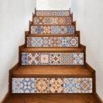 Simple Wood Stairs With Tile Risers Image 708
