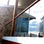 Stunning Glass Balustrade With Timber Handrail Image 628