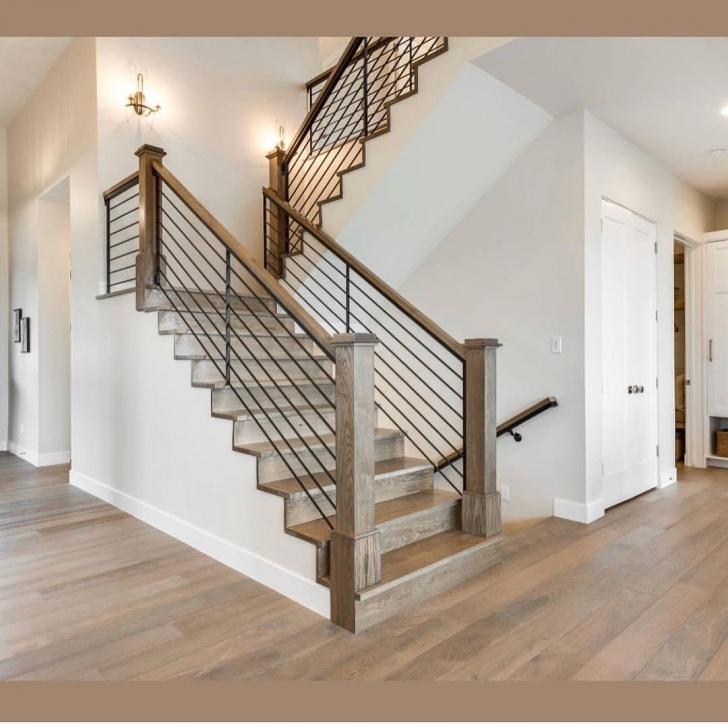 Stunning Modern Farmhouse Stair Railing Image 295