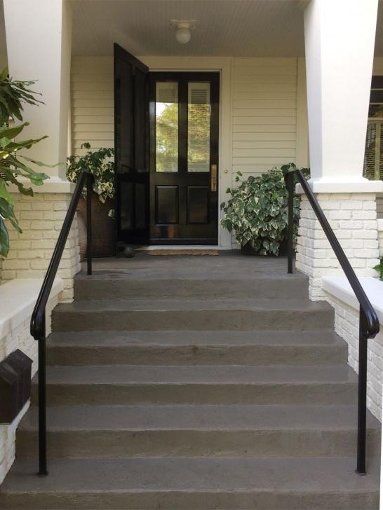 Stylish Exterior Metal Handrails Image 057