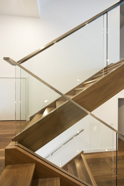 Stylish Glass Balustrade With Timber Handrail Image 911