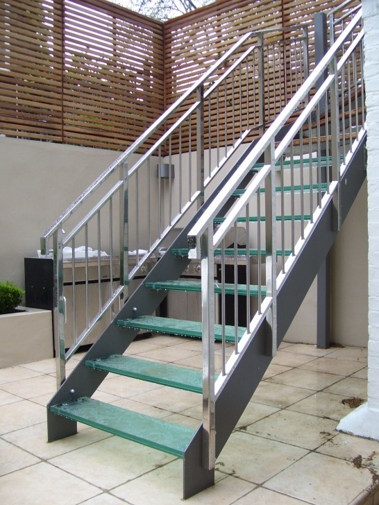 Stylish Metal Outdoor Stairs Image 437