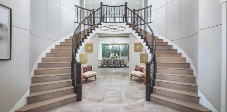 Stylish Modern Double Staircase Image 462