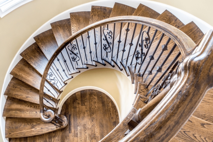 Stylish Semi Circle Staircase Design Picture 816