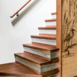 Stylish Teak Wood Staircase Designs Picture 620