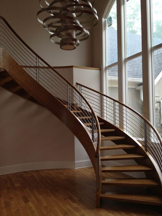 Super Cool Curved Wooden Staircase Picture 545