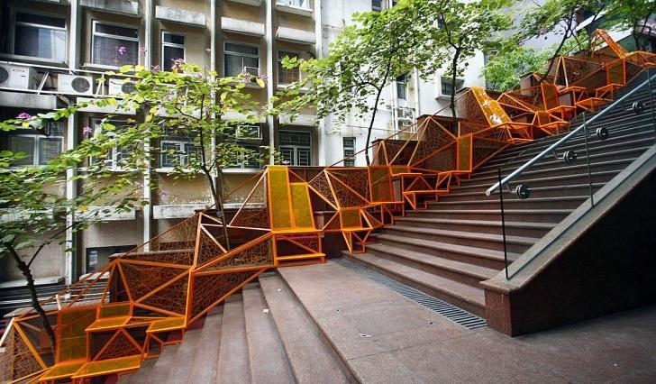 Super Cool Public Staircase Design Picture 358