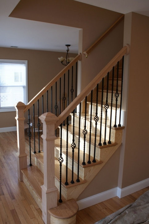Surprising Basement Stair Railing Photo 436