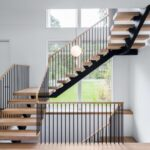 Surprising Double L Shaped Staircase Design Photo 493