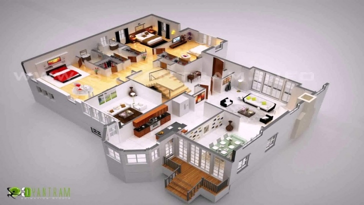 Surprising House Plans With Stairs In The Middle Photo 858