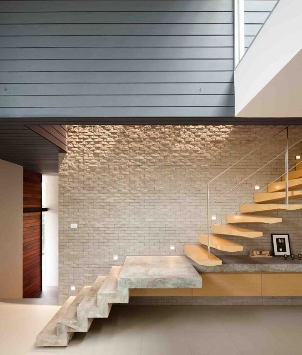 Top Duplex Stairs Wall Design Picture 485