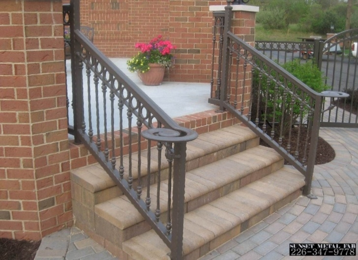 Top Exterior Wrought Iron Stair Railings Image 506