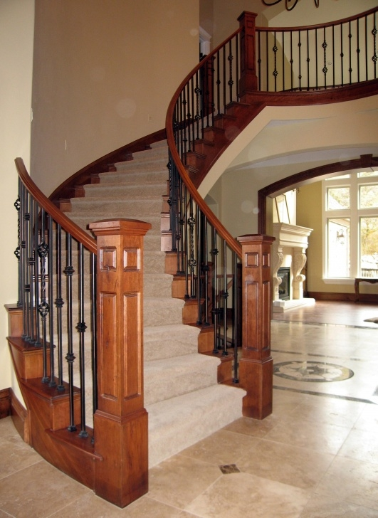 Top Iron And Wood Staircase Photo 455