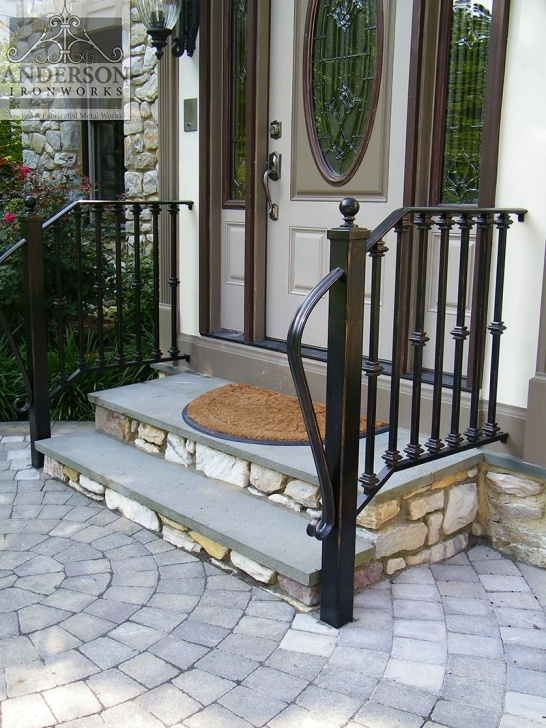 Wonderful Exterior Wrought Iron Stair Railings Photo 034