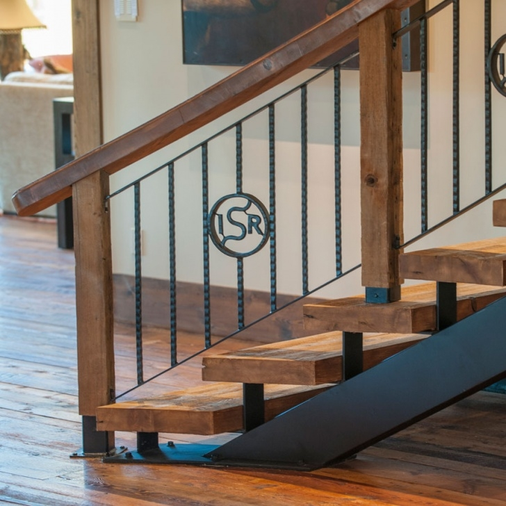 Wonderful Iron And Wood Staircase Picture 590
