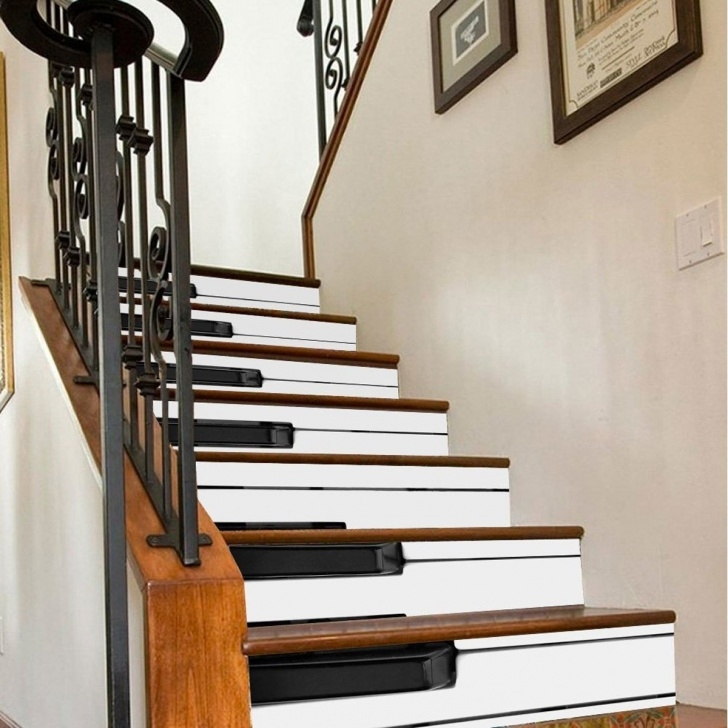 Wonderful Wood Stairs With Tile Risers Picture 427