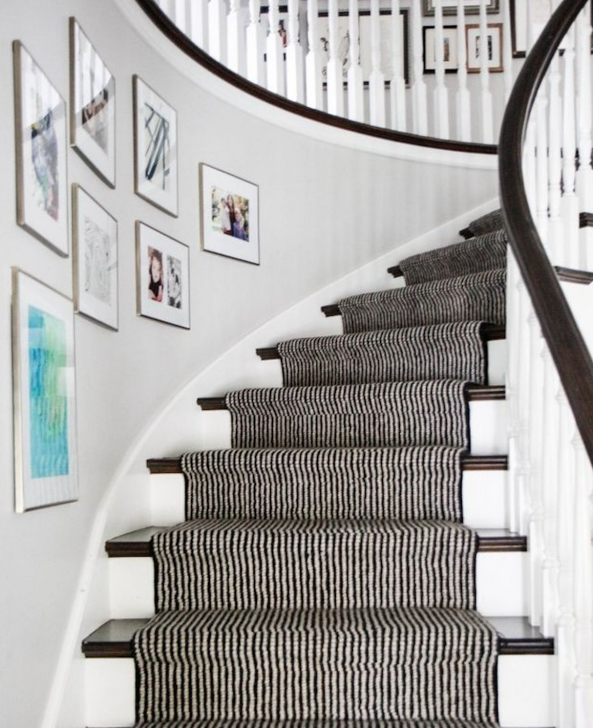 Amazing Black And White Stair Runners Picture 011