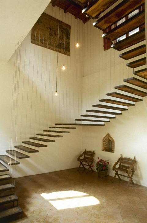 Amazing Hanging Stairs Design Photo 399