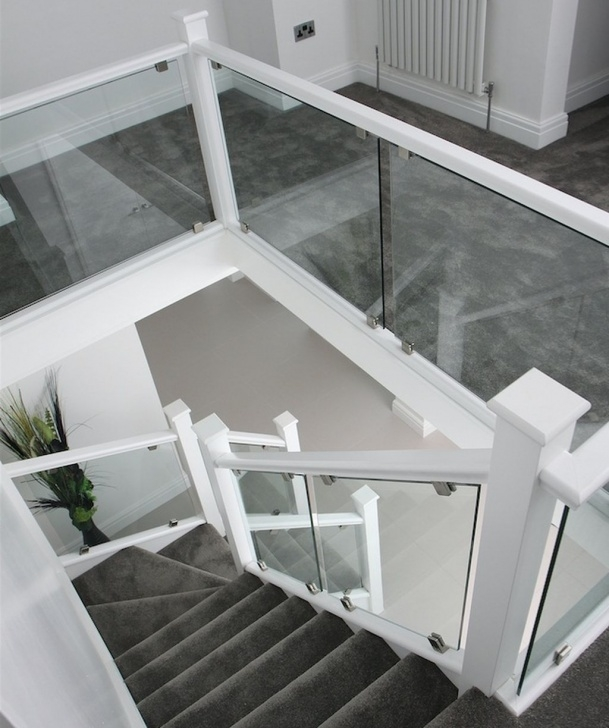 Amazing White And Glass Staircase Image 772