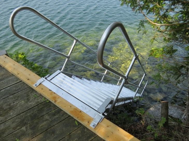 Amazingly Aluminum Steps With Handrail Picture 612