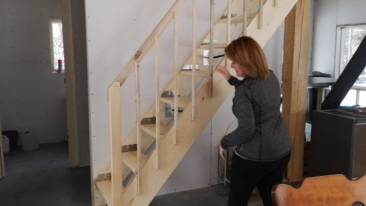 Amazingly Folding Stairs With Handrails Picture 305