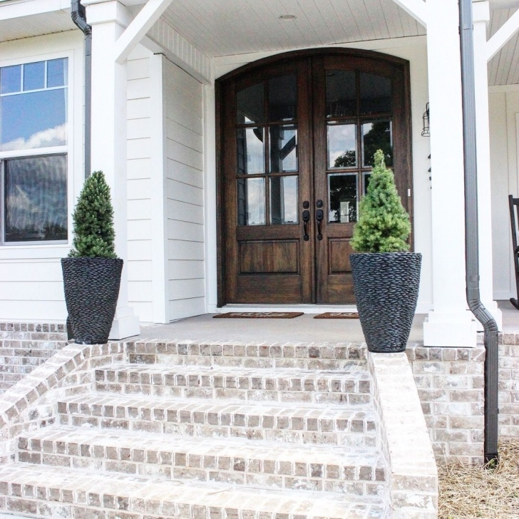 Amazingly Front Door Brick Steps Design Picture 461