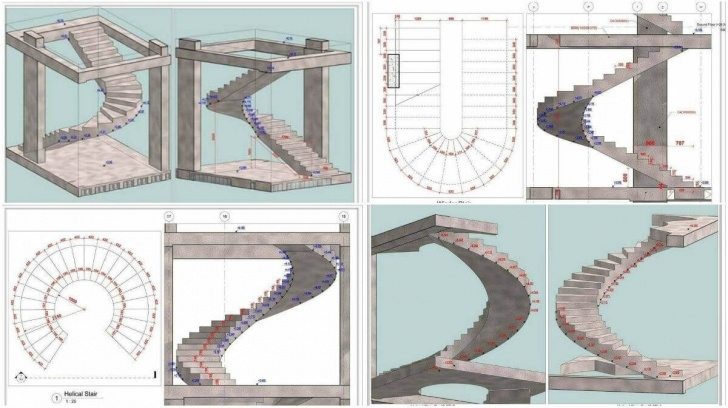 Amazingly Helical Staircase Structural Design Picture 823