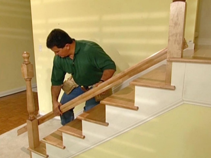 Amazingly Installing Stair Handrail Image 443