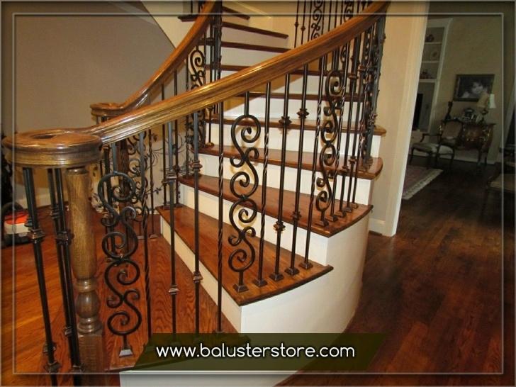 Amazingly Interior Iron Stair Railing Photo 557