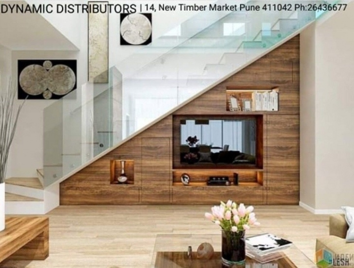 Amazingly Living Room Design Under Stairs Image 395