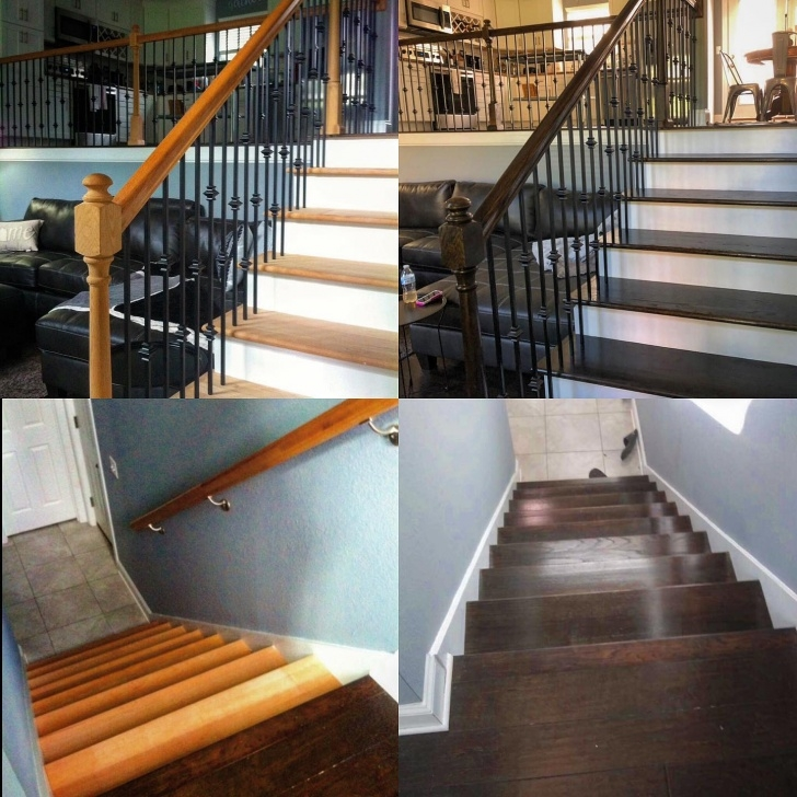 Amazingly Staining Wood Stairs Picture 421