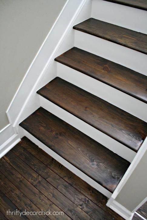 Amazingly Staining Wood Steps Image 834