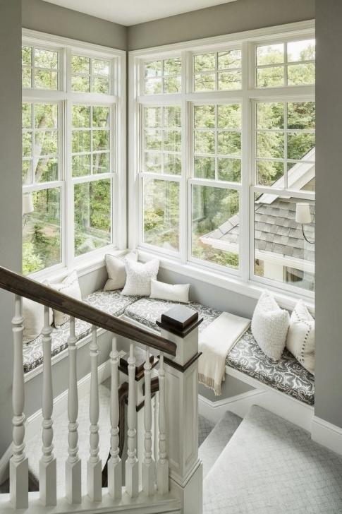 Amazingly Staircase Landing Window Designs Photo 277