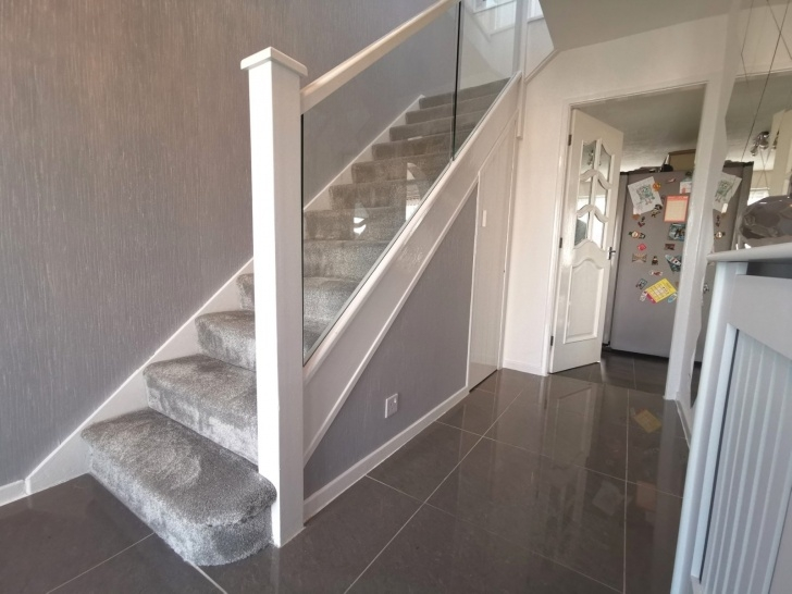 Amazingly White And Glass Staircase Photo 632
