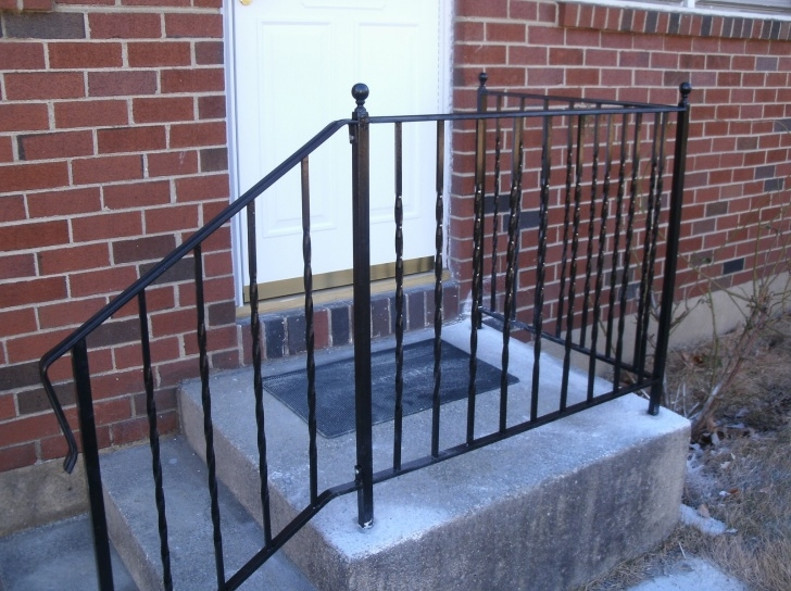 Amazingly Wrought Iron Handrails For Outdoor Steps Near Me Image 515