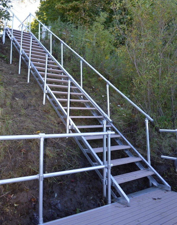 Awesome Aluminum Steps With Handrail Photo 636