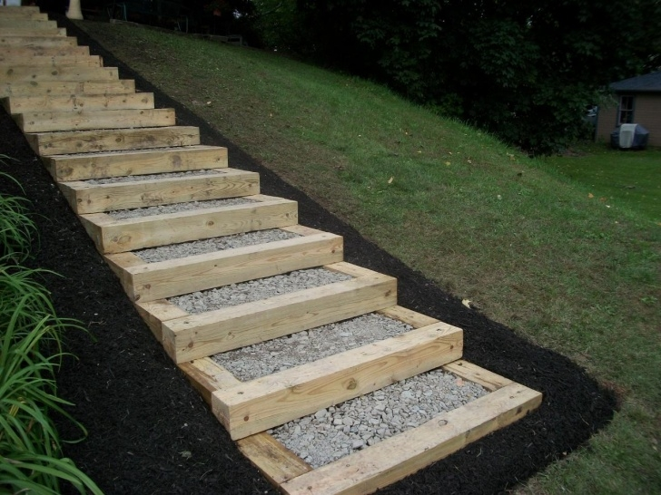 Awesome Building Outdoor Stairs On A Hill Picture 327