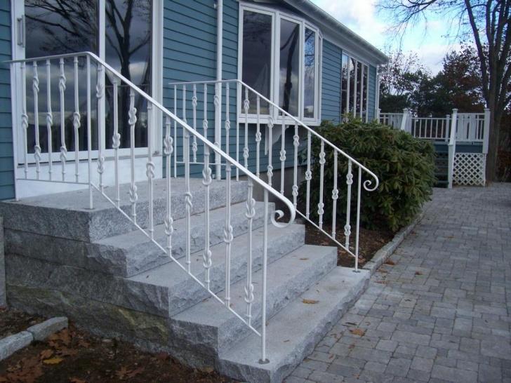 Awesome Exterior Iron Stair Railing Photo 779