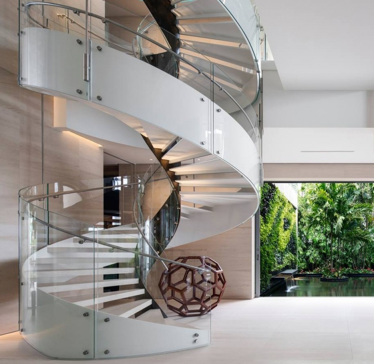 Awesome Glass Spiral Staircase Photo 783