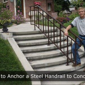 Metal Handrails For Concrete Steps