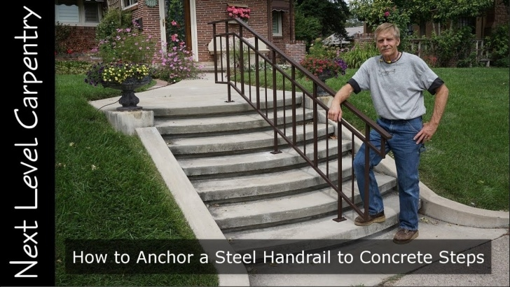 Awesome Outdoor Handrails For Concrete Steps Picture 702