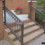 Awesome Outdoor Wrought Iron Stair Railing Picture 710