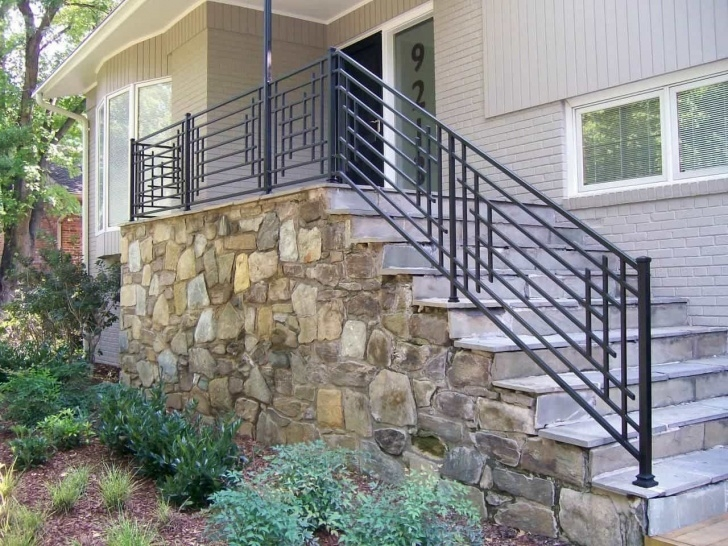 Awesome Railing Designs For Outdoor Stairs Image 029