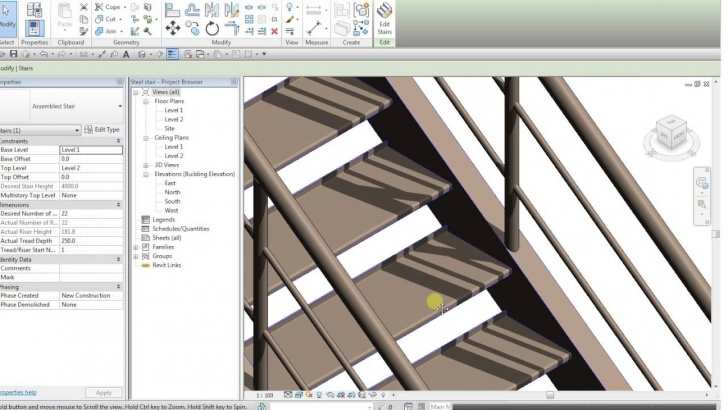 Awesome Revit Metal Stairs Image 093