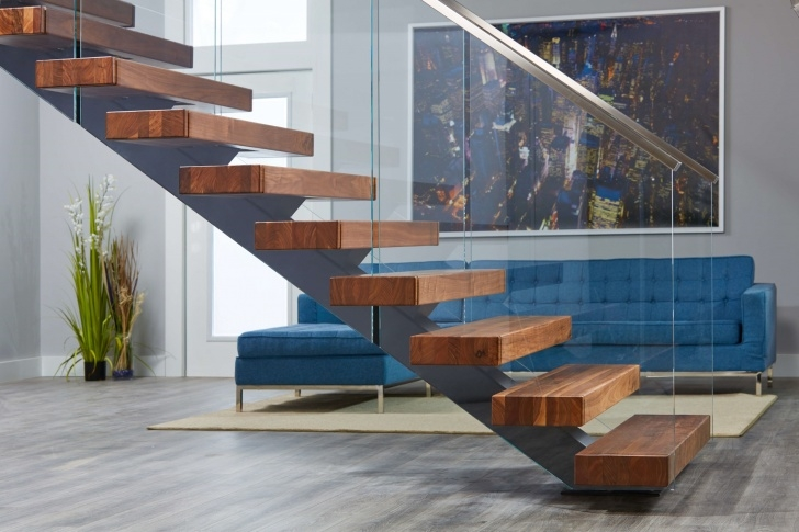 Awesome Staircase Railing With Glass Image 337